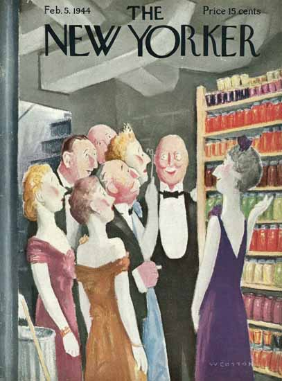 William Cotton The New Yorker 1944_02_05 Copyright | The New Yorker Graphic Art Covers 1925-1945