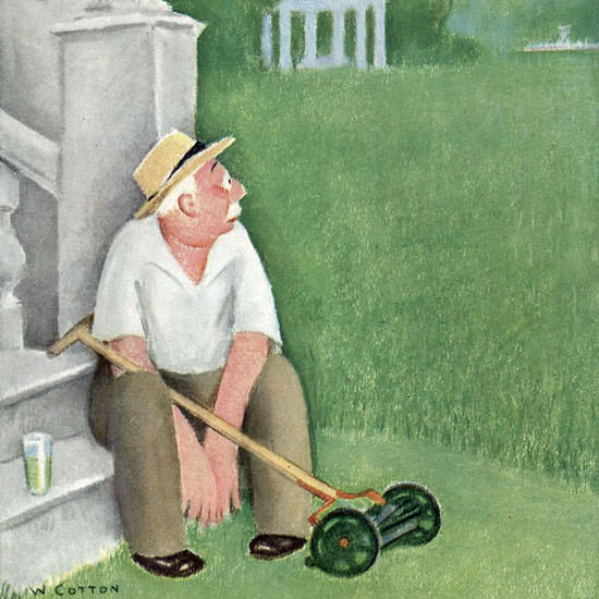 William Cotton The New Yorker 1944_06_03 Copyright crop | Best of Vintage Cover Art 1900-1970