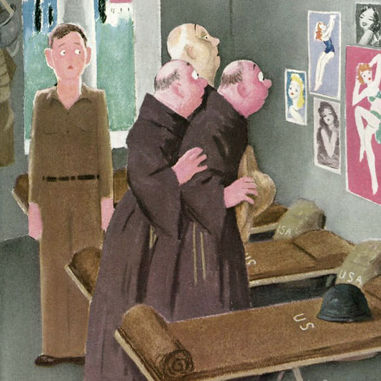 William Cotton The New Yorker 1944_08_12 Copyright crop | Best of Vintage Cover Art 1900-1970