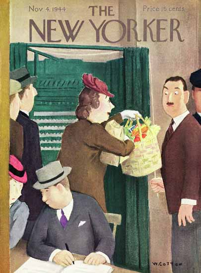 William Cotton The New Yorker 1944_11_04 Copyright X | The New Yorker Graphic Art Covers 1925-1945