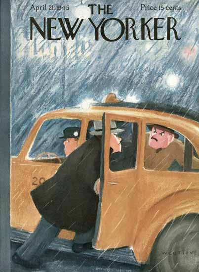 William Cotton The New Yorker 1945_04_21 Copyright | The New Yorker Graphic Art Covers 1925-1945