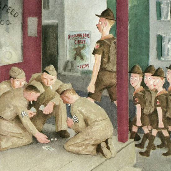 William Cotton The New Yorker 1945_08_25 Copyright crop | Best of Vintage Cover Art 1900-1970
