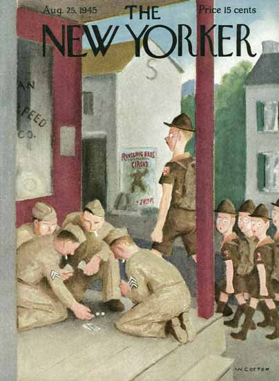 William Cotton The New Yorker 1945_08_25 Copyright | The New Yorker Graphic Art Covers 1925-1945