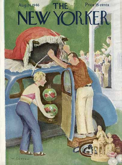 William Cotton The New Yorker 1946_08_24 Copyright   The New Yorker Graphic Art Covers 1946-1970
