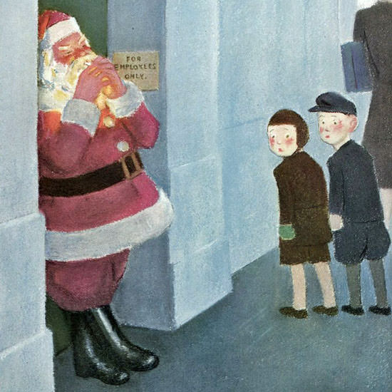 William Cotton The New Yorker 1946_12_14 Copyright crop | Best of Vintage Cover Art 1900-1970
