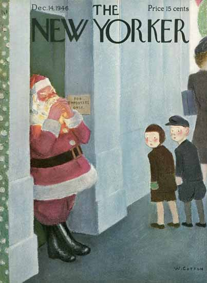 William Cotton The New Yorker 1946_12_14 Copyright | The New Yorker Graphic Art Covers 1946-1970