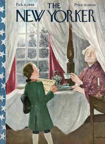 William Cotton The New Yorker 1948_02_21 Copyright | The New Yorker Graphic Art Covers 1946-1970