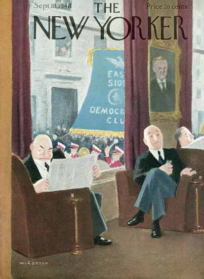 William Cotton The New Yorker 1948_09_18 Copyright | The New Yorker Graphic Art Covers 1946-1970