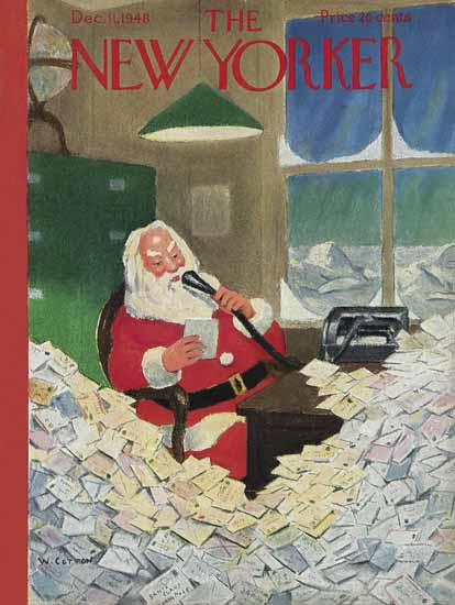 William Cotton The New Yorker 1948_12_11 Copyright   The New Yorker Graphic Art Covers 1946-1970