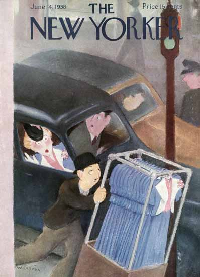 William Cotton The New Yorker Cover 1938_06_04 Copyright | The New Yorker Graphic Art Covers 1925-1945