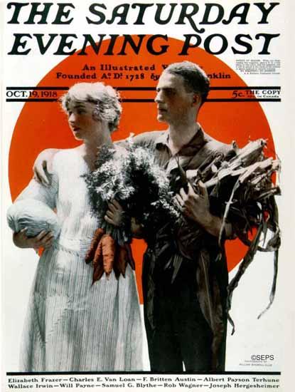 William Ellis Saturday Evening Post Cover Art 1918_10_19   The Saturday Evening Post Graphic Art Covers 1892-1930