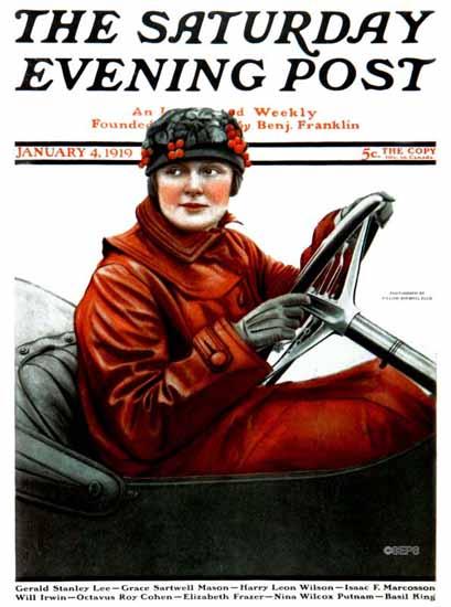 William Ellis Saturday Evening Post Cover Art 1919_01_04 | The Saturday Evening Post Graphic Art Covers 1892-1930