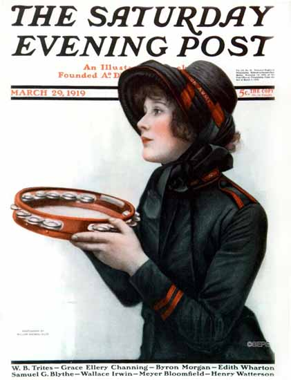William Ellis Saturday Evening Post Cover Art 1919_03_29 | The Saturday Evening Post Graphic Art Covers 1892-1930