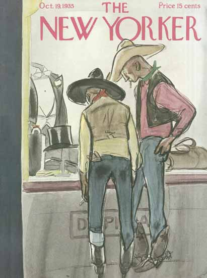 William Galbraith Crawford The New Yorker 1935_10_19 Copyright | The New Yorker Graphic Art Covers 1925-1945