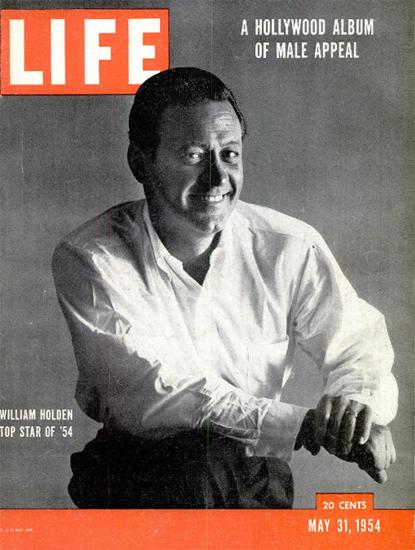 William Holden Top Star 1954 31 May 1954 Copyright Life Magazine   Life Magazine BW Photo Covers 1936-1970