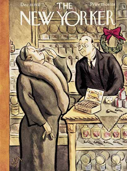William Steig The New Yorker 1932_12_10 Copyright | The New Yorker Graphic Art Covers 1925-1945