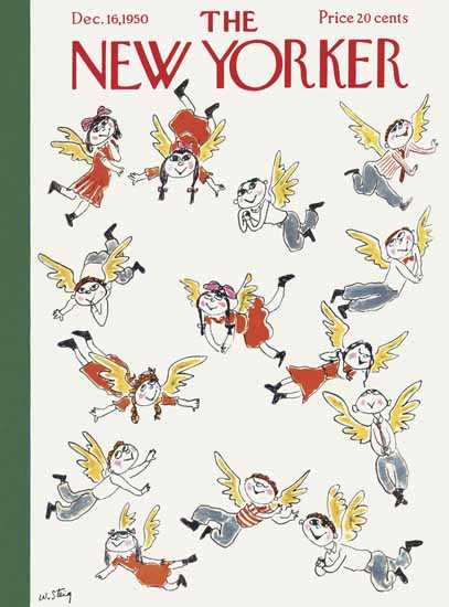 William Steig The New Yorker 1950_12_16 Copyright   The New Yorker Graphic Art Covers 1946-1970