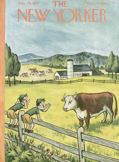 William Steig The New Yorker 1953_07_25 Copyright   The New Yorker Graphic Art Covers 1946-1970