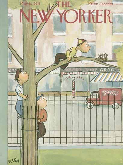 William Steig The New Yorker 1954_05_08 Copyright | The New Yorker Graphic Art Covers 1946-1970