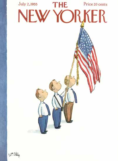 William Steig The New Yorker 1955_07_02 Copyright | The New Yorker Graphic Art Covers 1946-1970