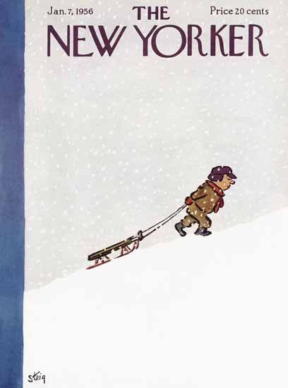 William Steig The New Yorker 1956_01_07 Copyright | The New Yorker Graphic Art Covers 1946-1970