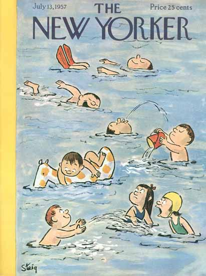 William Steig The New Yorker 1957_07_13 Copyright | The New Yorker Graphic Art Covers 1946-1970