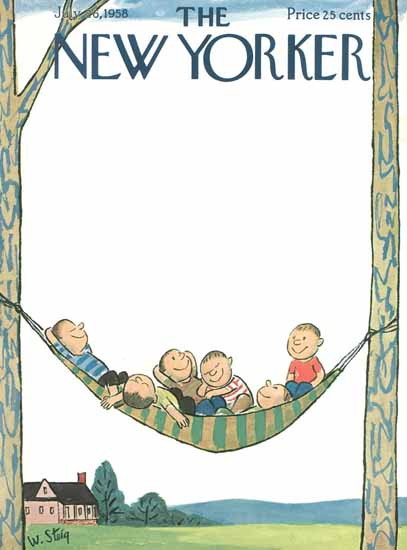 William Steig The New Yorker 1958_07_26 Copyright | The New Yorker Graphic Art Covers 1946-1970
