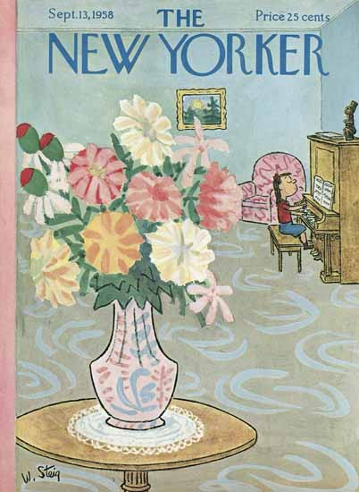 William Steig The New Yorker 1958_09_13 Copyright | The New Yorker Graphic Art Covers 1946-1970