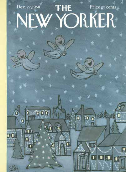 William Steig The New Yorker 1958_12_27 Copyright | The New Yorker Graphic Art Covers 1946-1970