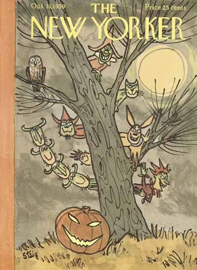 William Steig The New Yorker 1959_10_31 Copyright | The New Yorker Graphic Art Covers 1946-1970