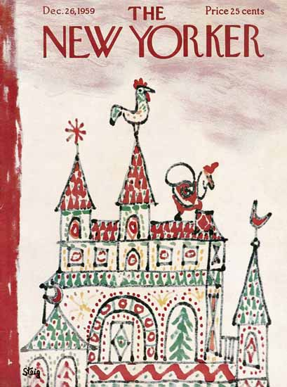 William Steig The New Yorker 1959_12_26 Copyright | The New Yorker Graphic Art Covers 1946-1970