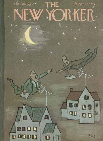 William Steig The New Yorker 1960_10_22 Copyright | The New Yorker Graphic Art Covers 1946-1970