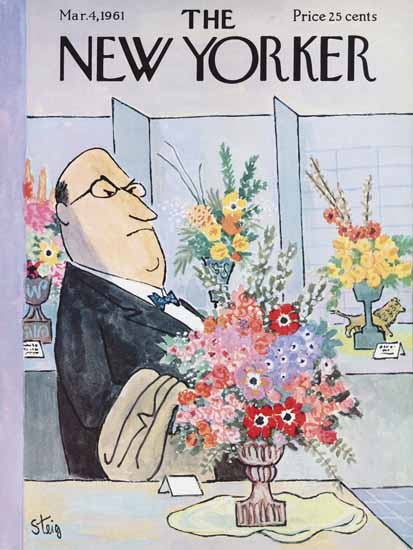 William Steig The New Yorker 1961_03_04 Copyright | The New Yorker Graphic Art Covers 1946-1970