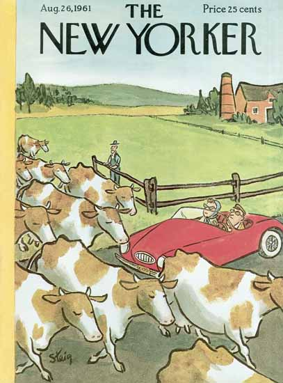 William Steig The New Yorker 1961_08_26 Copyright   The New Yorker Graphic Art Covers 1946-1970