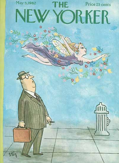 William Steig The New Yorker 1962_05_05 Copyright | The New Yorker Graphic Art Covers 1946-1970