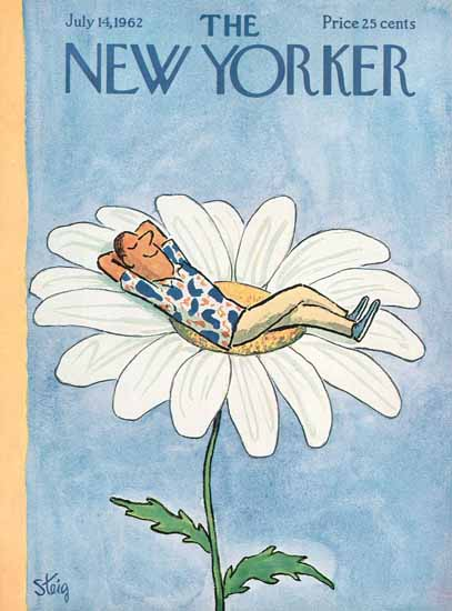 William Steig The New Yorker 1962_07_14 Copyright | The New Yorker Graphic Art Covers 1946-1970