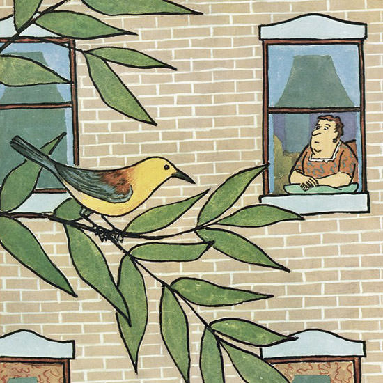 William Steig The New Yorker 1963_05_11 Copyright crop | Best of Vintage Cover Art 1900-1970