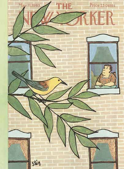 William Steig The New Yorker 1963_05_11 Copyright | The New Yorker Graphic Art Covers 1946-1970