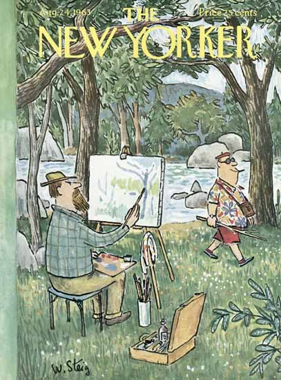 William Steig The New Yorker 1963_08_24 Copyright | The New Yorker Graphic Art Covers 1946-1970