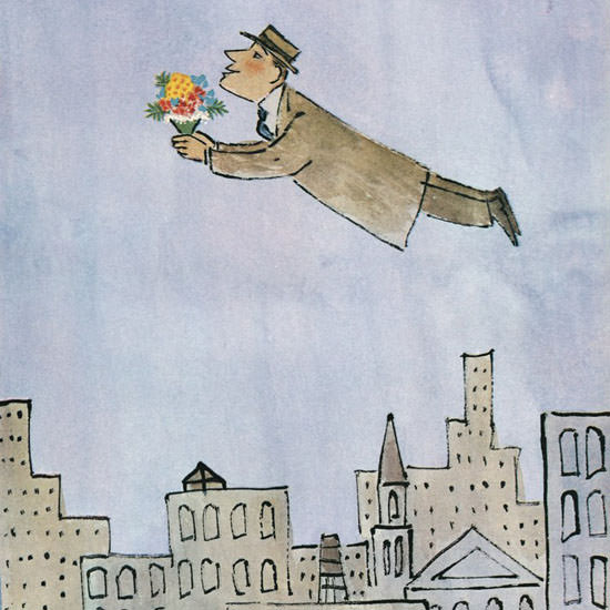 William Steig The New Yorker 1964_02_15 Copyright crop | Best of Vintage Cover Art 1900-1970