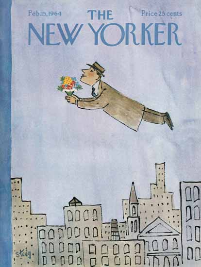 William Steig The New Yorker 1964_02_15 Copyright | The New Yorker Graphic Art Covers 1946-1970