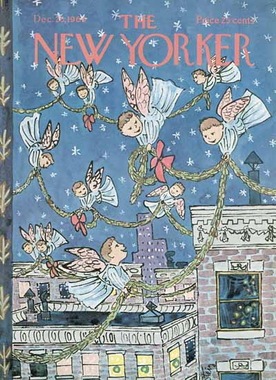 William Steig The New Yorker 1964_12_26 Copyright | The New Yorker Graphic Art Covers 1946-1970