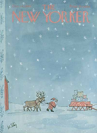 William Steig The New Yorker 1966_12_24 Copyright | The New Yorker Graphic Art Covers 1946-1970