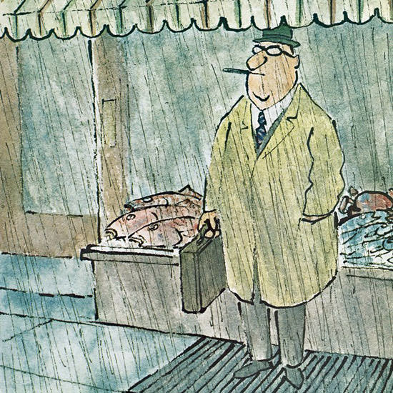 William Steig The New Yorker 1967_04_08 Copyright crop | Best of Vintage Cover Art 1900-1970