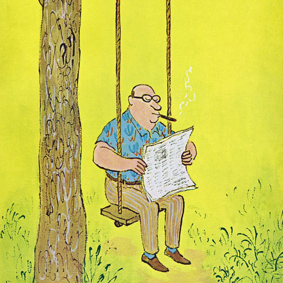 William Steig The New Yorker 1967_08_12 Copyright crop | Best of Vintage Cover Art 1900-1970