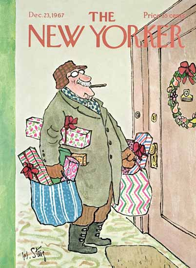 William Steig The New Yorker 1967_12_23 Copyright | The New Yorker Graphic Art Covers 1946-1970