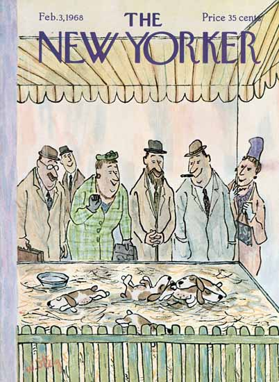 William Steig The New Yorker 1968_02_03 Copyright | The New Yorker Graphic Art Covers 1946-1970