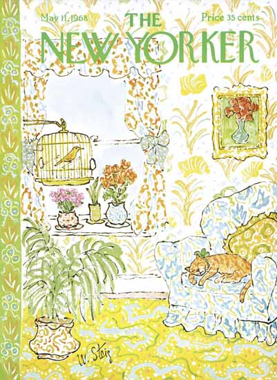William Steig The New Yorker 1968_05_11 Copyright   The New Yorker Graphic Art Covers 1946-1970