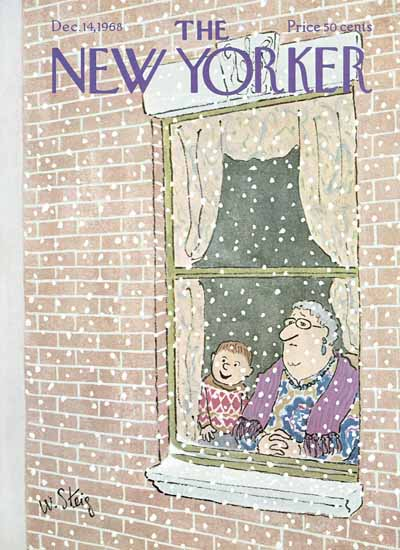 William Steig The New Yorker 1968_12_14 Copyright | The New Yorker Graphic Art Covers 1946-1970