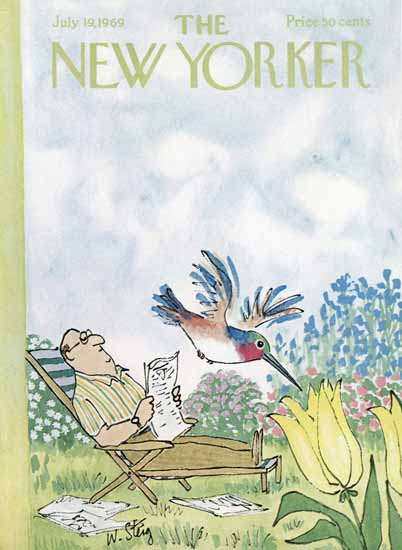 William Steig The New Yorker 1969_07_19 Copyright   The New Yorker Graphic Art Covers 1946-1970